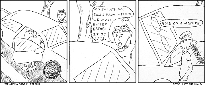 Comic graphic for 2003-07-19: Impatience Rising