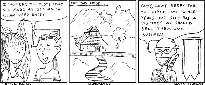 Comic graphic for 2003-10-02: The Happiest Little Ninja