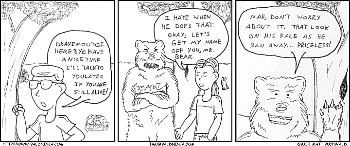 Comic graphic for 2003-12-10: Grin and Bear It