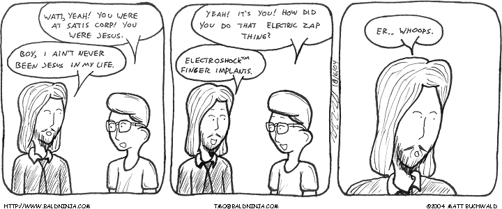 Comic graphic for 2004-10-06: The Godot Identity