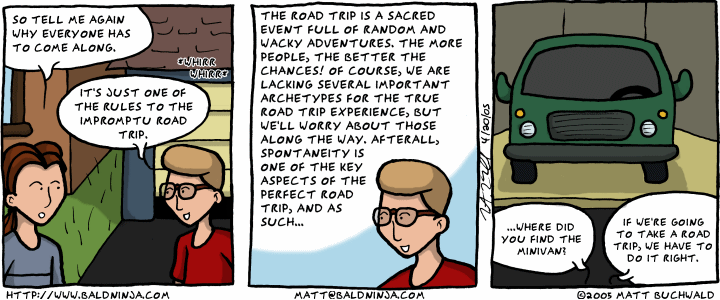 Comic graphic for 2005-04-21: The Zen of Road Trips