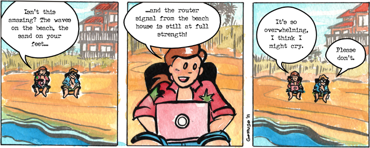Comic graphic for 2011-07-09: Signal Strength